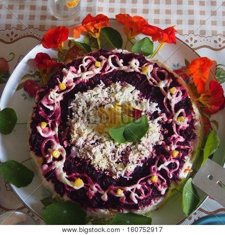 Festive Serving Of Salad.