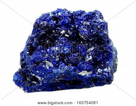lazurite semiprecious blue geological crystal mineral isolated