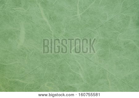 Handmade mulberry paper texture.Green mulberry paper texture.Mulberry paper background.Rice paper texture.