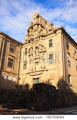 View of Santa Clara convent Santiago de Compostela Spain