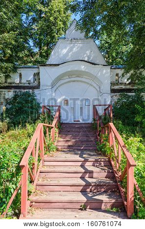 Monument to victims of political repressions in Bogoroditse-Rozhdestvensky Monastery Vladimir Russia