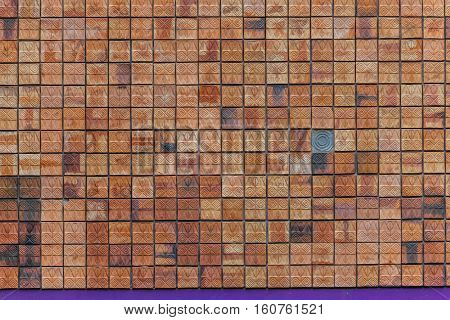 Red brick wall with texture for background