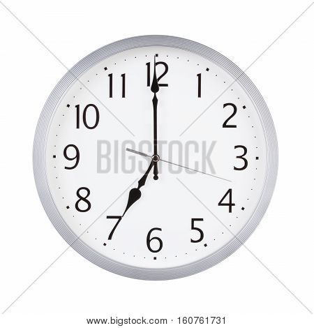Seven hours on a round clock face