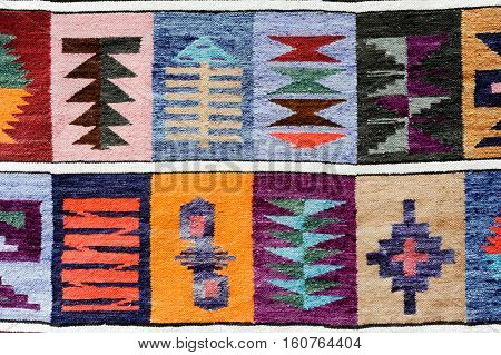 Indigenous crafts at the market of Purmamarca on Argentina andes