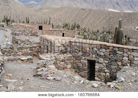 Archaeological site of Pucara at Tilcara on Argentina andes