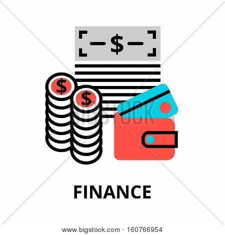 Modern flat editable line design vector illustration finance icon for graphic and web design