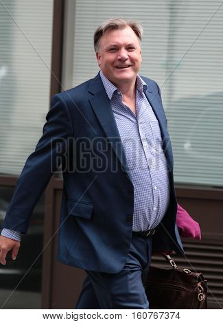 LONDON, UK, SEP 04, 2016: Ed Balls Strictly Come Dancing contestant seen at the BBC studios London picture taken in the street