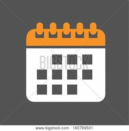 Calendar day  event isolated icon symbol flat logo vector stock
