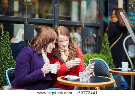 Two Girls Making Self Picture (selfie)