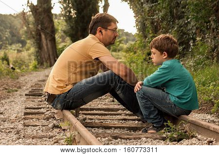 Father and son discussions are about something serious