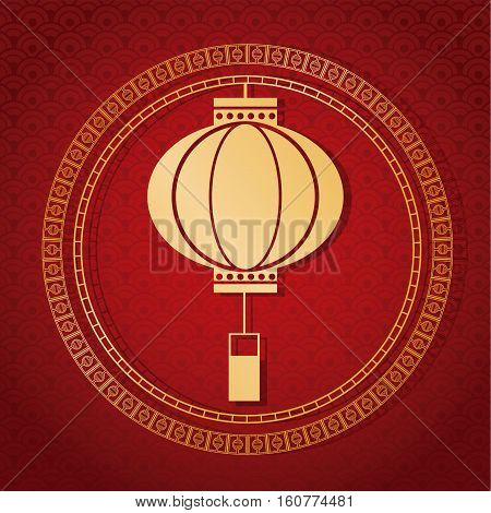 chinese new year 2017 traditional lantern golden vector illustion eps 10