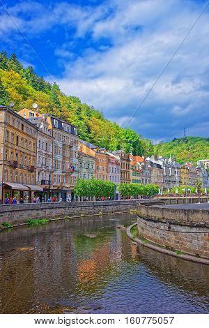 Embankment Of Tepla River Karlovy Vary