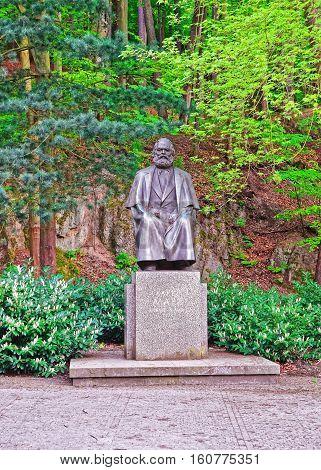 Karl Marx Monument In Karlovy Vary