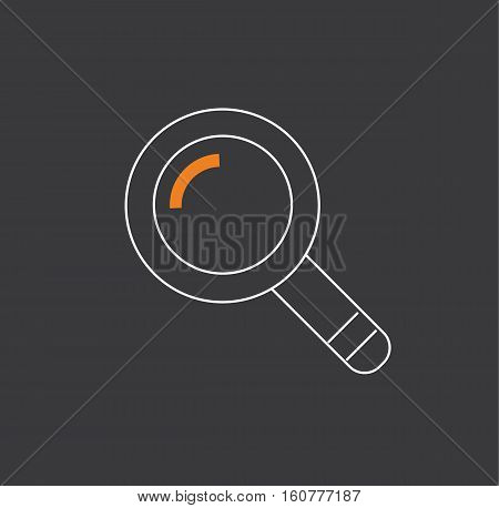 Magnifying glass zoom flat symbol logo icon vector stock