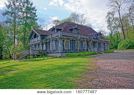 Old Wooden House In Bialowieza National Park In Poland