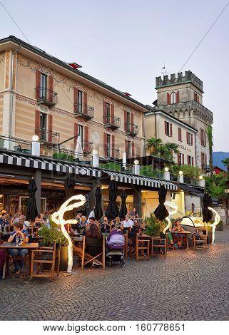 Cafes And Restaurants In Ascona Resort In Ticino Switzerland