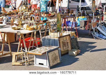 Counter In Flea Street Market In Ascona