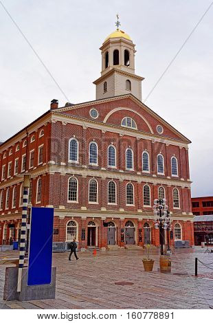 Faneuil Hall In Government Center At Downtown Boston In Us