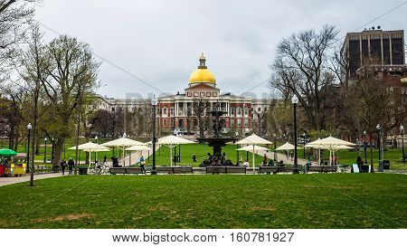 State Library Of Massachusetts At Boston Common Park