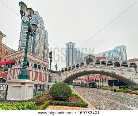Bridge At Venetian Macao Casino And Hotel Luxury Resort Macau