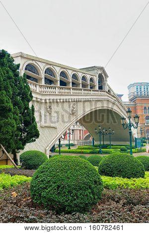 Bridge Of Venetian Macau Casino And Hotel Luxury Resort Macao