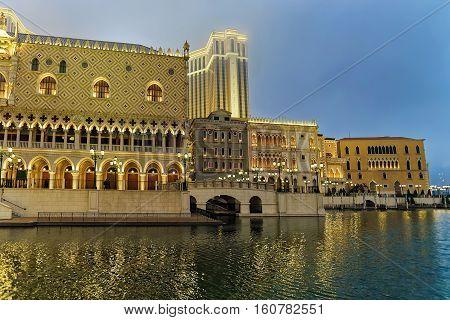 Canal In Venetian Macau Casino And Hotel Luxury Resort Macao