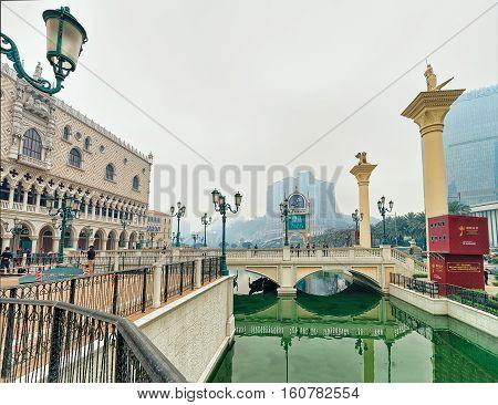 Canal At Venetian Macao Casino And Hotel Resort Macau