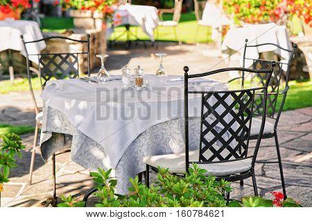 Typical Restaurant Terrace Of Ascona