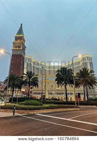 Venetian Macau Casino And Hotel Luxury Resort Of Macao Night