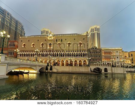 Waterfront At Venetian Macau Casino And Hotel Luxury Resort Macao