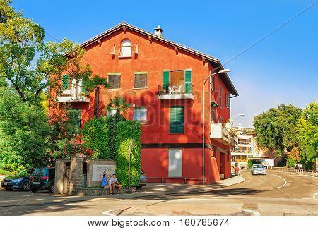 Houses In Ascona Of Swiss