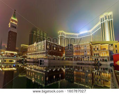 Venetian Macao Casino And Luxury Resort Late Evening China