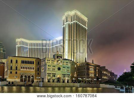 Waterfront And Venetian Macau Casino Luxury Resort