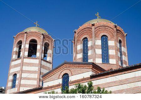 Domes of St. Nicholas Orthodox Church in Batumi,Georgia,Caucasus