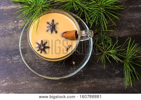 Cup Of Coffee With Spices