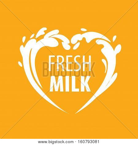 template design logo milk. Vector illustration of icon