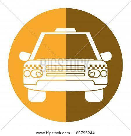 taxi cab car public transport yellow circle vector illustration eps 10