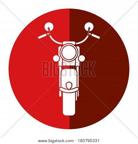 motorcyle speed transport steel red circle vector illustration eps 10