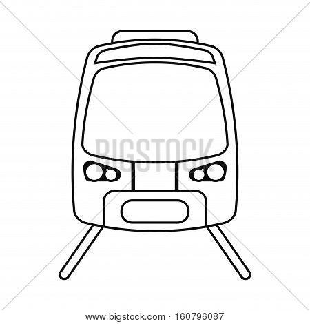 high speed train passenger rail road outline vector illustration eps 10