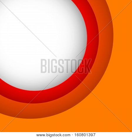 Abstract orange background with copy space, stock vector
