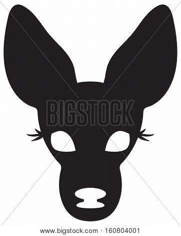 This is a vector illustration of a baby female deer.