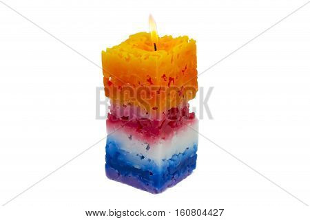 Candle Coral Seven Colors on white background