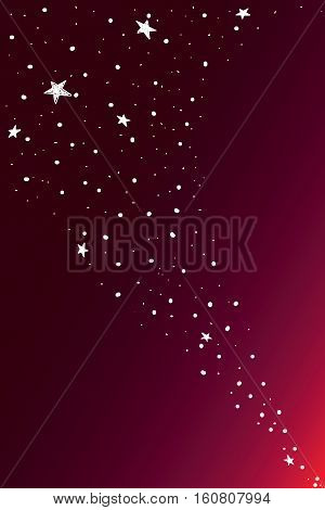 Red gradation sky with stars, illustrator background
