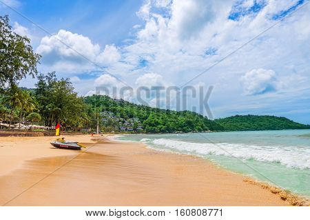 Kata Noi beach at Phuket island south part on summer sunny day, Thailand.