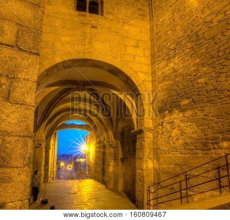 Famous porch of Santiago de Coimpostela Spain
