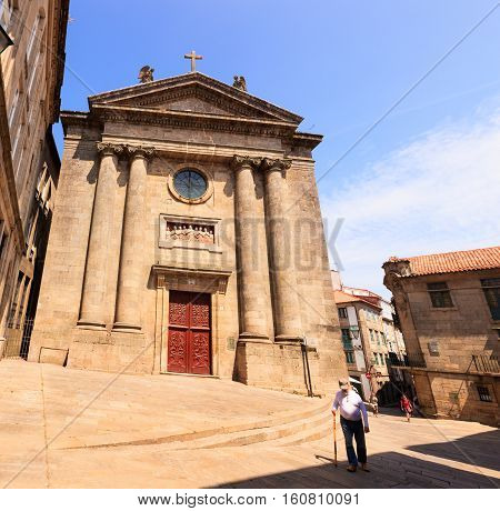 SANTIAGO SPAIN - AUGUST 17: View of the church of Las Animas- the Souls on August 17 2016