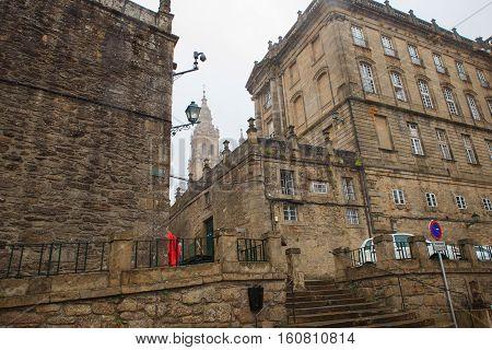 View of the Santiago de Compostela Spain