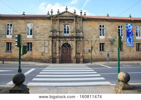 SANTIAGO SPAIN - AUGUST 17: boarding school San Clemente de Pasantes dedicated to Rosalia de Castro on August 17 2016