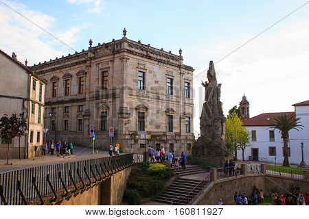 SANTIAGO SPAIN - AUGUST 17: Monument to St. Francis of Assisi on August 17 2016
