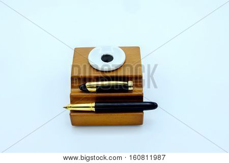 Fountain Pen And Inkwell